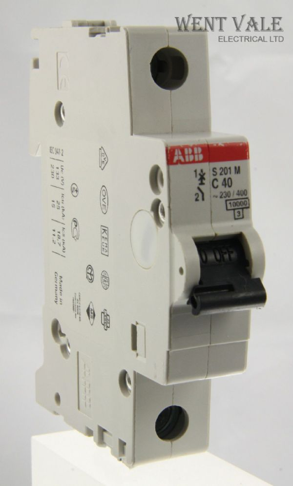 ABB System Pro M - S201M  - 40a Type C Single Pole MCB Used